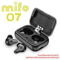 Mifo O7 Double Balanced True Wireless Earbuds Noise Reduction V5.0 TWS Bluetooth Earphone Aptx Sport Waterproof mini Earphones
