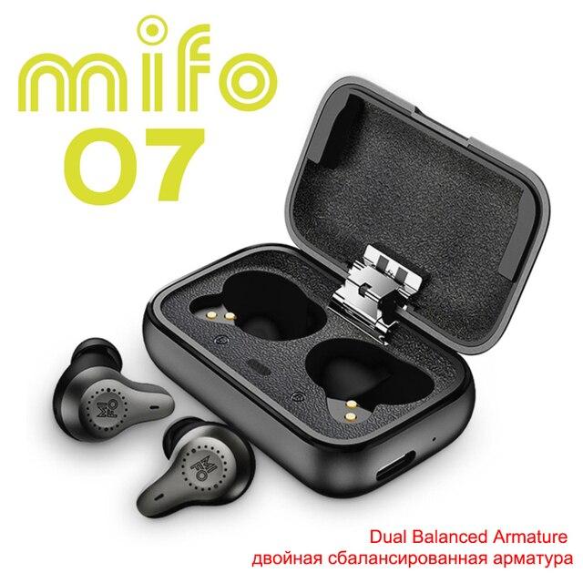 Mifo O7 ダブルバランス真ワイヤレスイヤフォンノイズリダクションV5.0 tws bluetoothイヤホンaptxスポーツ防水cntイヤホン