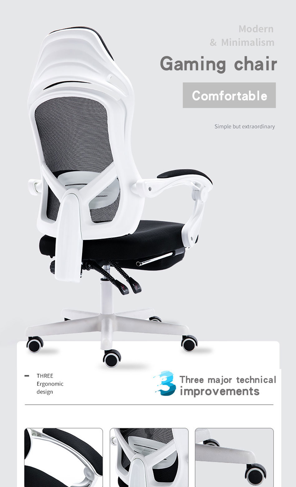 Computer Chair Home Electric Competitive Chair Gamer Chair Ergonomic Chair Comfortable Back Reclining Office Chair Mesh Chair Office Chairs Aliexpress