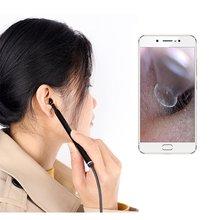 Usb ухо камера отоскоп 3,9 мм HD ухо прицел эндоскоп визуальный ухо эндоскоп с ушной серой совместимый ухо очиститель для Android
