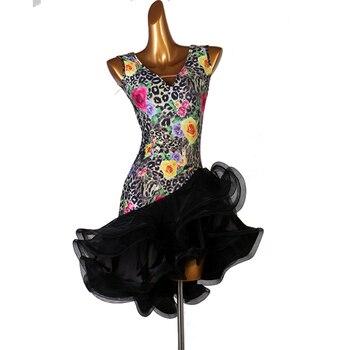 Latin Competition Dance Skirt Women 2020 Lady's New style Professional Samba Latin Dancing Wear Adult Rumba Latin Dress