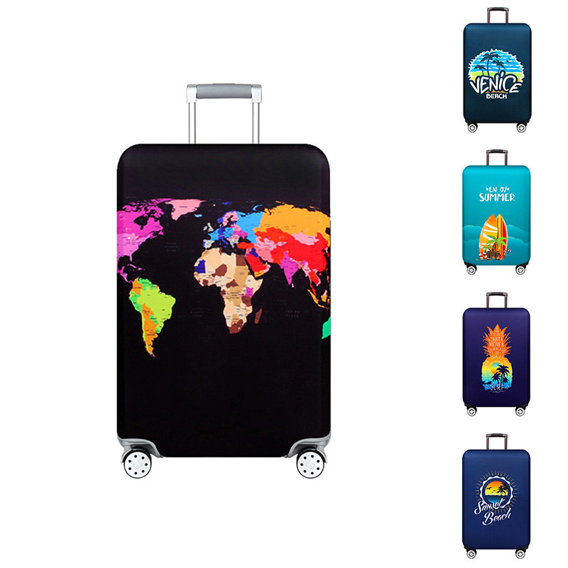 VOGVIGO World Map Photo Luggage Protective Covers Travel Suitcase Cover Elastic Dust Case For 18 To 32 Inches Travel Accessories
