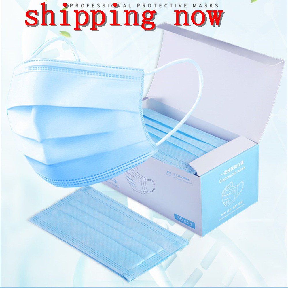 Health Topmask In Stock 50pc Face Mouth Mascarilla Face Disposable Individually Packaged Fabric Dust Mouth Mascarilla Dustproo