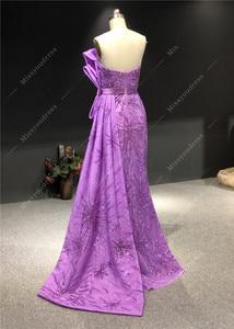 Image 2 - Robe de soirée sans bretelles, forme sirène, longueur au sol, personnalisé sans bretelles, violet, nouveauté 2020