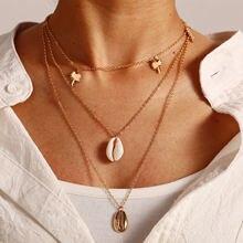 Ywzixln богемное золотистое разноцветное ожерелье с подвеской