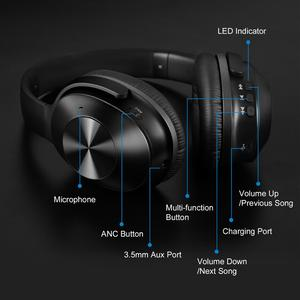Image 4 - OneOdio Original A9  Active Noise Cancelling Wireless Headset With Mic Stereo Over Ear Bluetooth Headphones For Phones