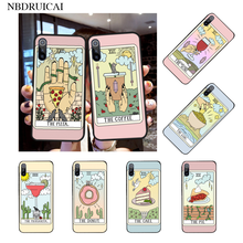 NBDRUICAI Aesthetic Art pizza coffee Pink Silicone Black Phone Case for Xiaomi 8 9 se 5X Redmi 6pro 6A 4X 7 5plus note 5 7 6pro(China)