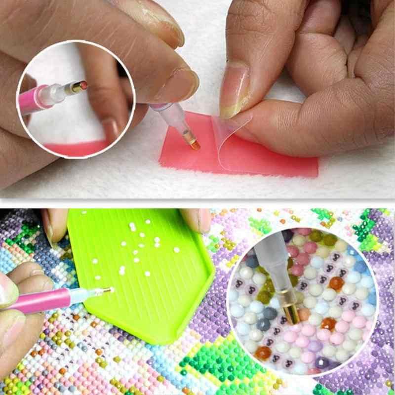 DIY Diamant Malerei Zubehör 5D Kreuz Stich Stickerei Stift Diamant Malerei Werkzeuge Set Mosaik Kleber Stift Kit Pinzette