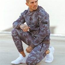 NIEUWE sporting suits mens fashion trainingspak mannen camouflage Hoodies + joggingbroek mannen Sportwear Pak Hoodies Trainingspak Set Mannelijke