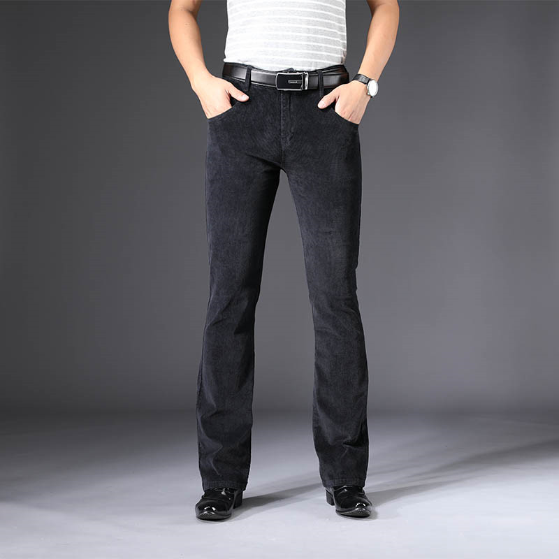 Men's Casual Pants 2019 Spring And Autumn Men's New Micro-slip Casual Trousers Korean Version Of The Elastic Micro-bell Pants