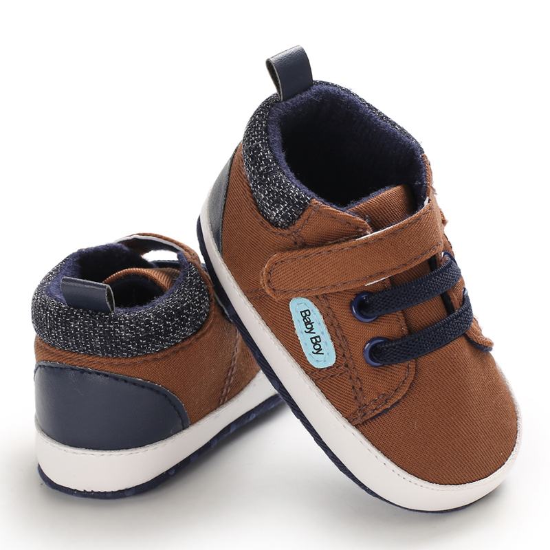 Newborn Antiskid Casual Boy Shoes Toddler Boy Shoes Baby Shoes Soft Sole Infant Baby First Walkers