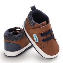 Sapatos casuais antiderrapantes para bebês, calçados para meninos e meninas recém-nascidos, sola macia, bebê, primeiros passos