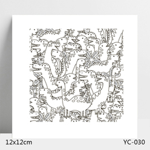 Cute dinosaur Transparent Silicone Stamps/Seal for DIY Scrapbooking/Photo Album Decorative Card Making Clear Stamps Supplies