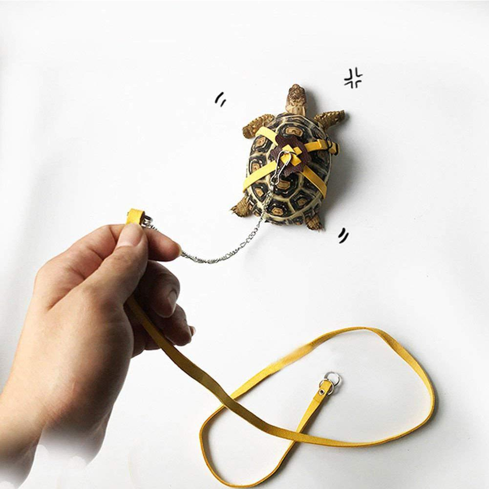 Small Pet Hamster Harness Turtle Lizard Leash Traction Rope Adjustable Leashes Belt Walking Leads For Guinea Pig Cobaya Turtle