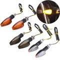 2PCS Universal 12V Blinkende Blinker Motorrad Led-leuchten Hinten Blinker Anzeige Schwanz Licht Für Cafe Racer Honda BMW Yamaha
