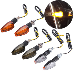 2PCS Universal 12V Flashing Turn Signals Motorcycle LED Lights Rear Blinker Indicator Tail Light For Cafe Racer Honda BMW Yamaha