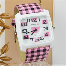 Womage Womens Watches Fashion Women Square Leather Band Quartz Wratch Casual Ladies Student Best Gift