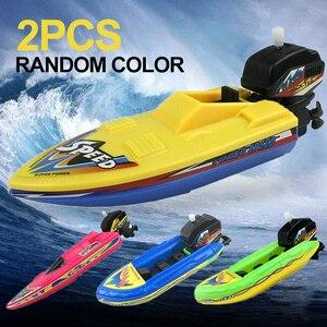 Flotador de plástico en el agua para niños, juguete de baño educativo de cuerda clásica, piscina de agua, barco flotante, regalo para niños, 2 unidades
