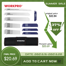 Workpro 32 pás de serra para lâminas de corte de metal de madeira reciprocating viu lâmina conjunto jigsaw blade