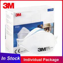 3M-mascarilla FFP2 con válvula, máscara de protección antipolvo reutilizable, respirador de seguridad, Individual, 9320