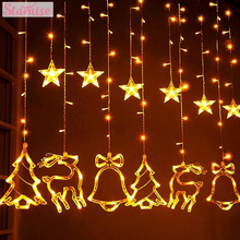 Star Elk Led String Lights Merry Christmas Ornaments 2019 Decoration For Home Xmas Gift Tree Decor Cristmas