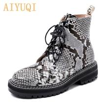 Aiyuqi/Женская обувь; Модель 2020 года; Женские Ботинки martin;