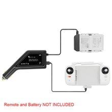 Для FIMI X8 SE автомобильное зарядное устройство Быстрая зарядка 2 в 1 батарея/пульт дистанционного управления зарядное устройство для FIMI X8 SE аксессуары для дрона