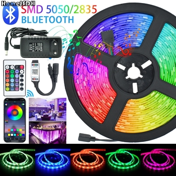 HomeJSDH WIFI Led Strip Festoon Led Lights SMD Waterproof RGB Ledy On The Wall Led Panel Lights Soundbar For Tv Christmas image