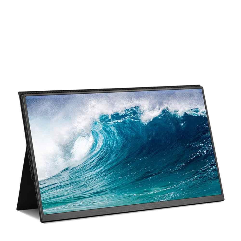 Monitor portátil BEEX con carcasa de Metal y borde estrecho 1920x1080 HD IPS Pantalla de 15,6 pulgadas para ordenador portátil interruptor de teléfono Xbox Pc