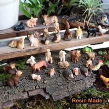 Hars Miniatuur Dieren Fairy Garden Mini Bos Farm Animal Realistische Micro Tiny Dieren Beeldjes Eekhoorn Kip Bunny Set
