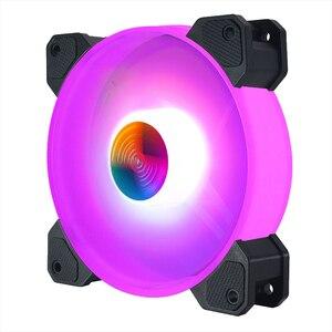 Image 4 - Кулер Coolmoon, 12 см, RGB, 5 В, музыкальный ритм, бесшумный, с корпусом, аура, синхронизация, с музыкальным управлением, кулер для воды, на заказ, 120 мм