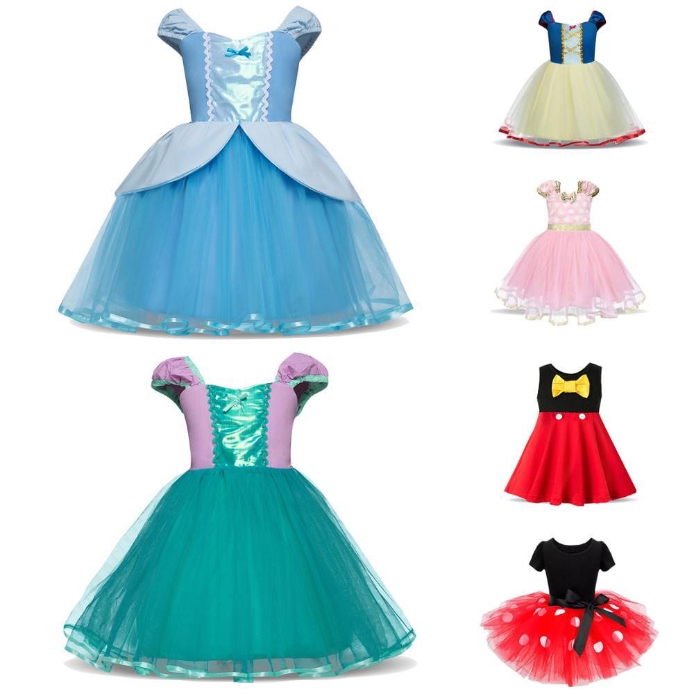 Kids Fancy Dress Girls Clothes Princess Cinderella Cosplay Costume For Party Wear Children Halloween Christmas Vestidos Infantil