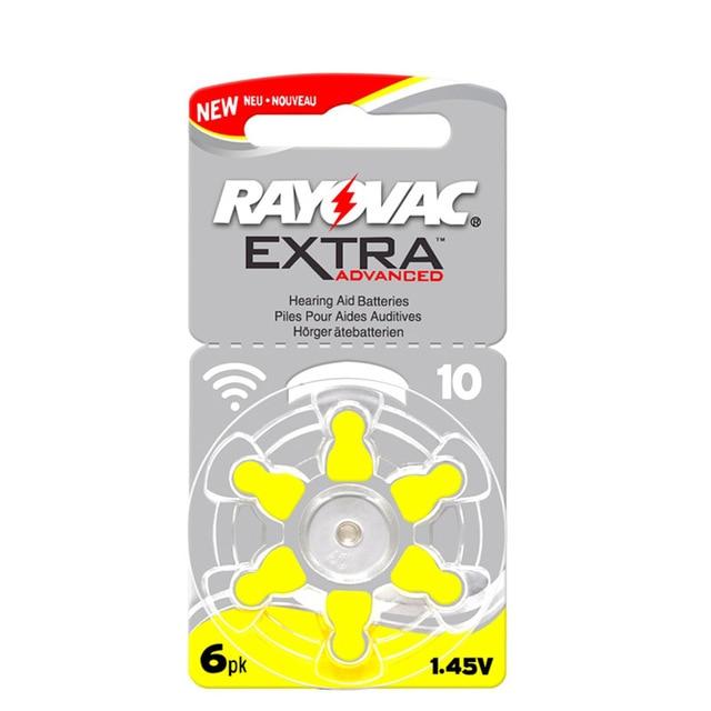 Батарея Rayovac A10 10A 10 PR70 для слуховых аппаратов, 60 шт.