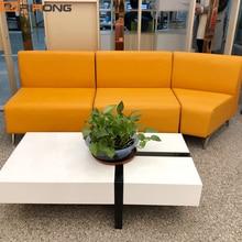 Современный отель приемный Офис Дом Furniutre секционный диван кожаный диван набор диван стул диване стул