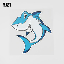 YJZT 13.9CMX15CM Smiling Fish Car Sticker Cartoon Pattern Pvc Decal Window 6A-0292