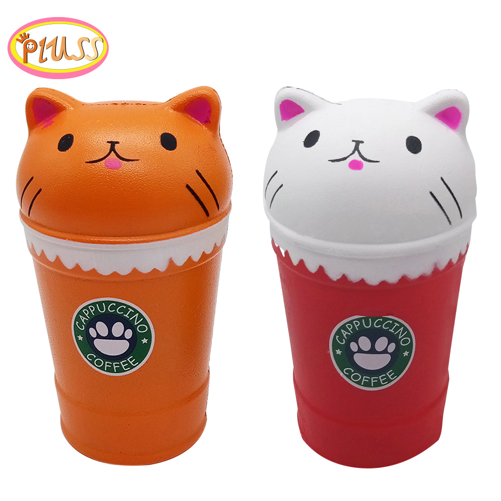 AntistressToy Squishy Soft Cute Coffee Cup Cat Scented Squishy Slow Rising Squeeze Toy Collection Cure Exquisite Kids Gift