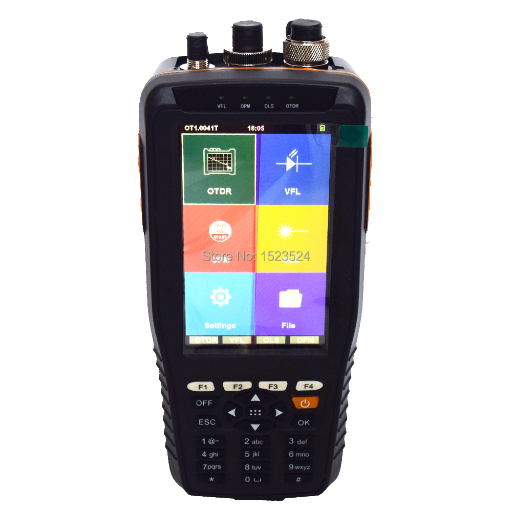 TM290 Schermo di Tocco Astuto OTDR 1310/1550nm con Built-In VFL OPM OLS OTDR Optical Time Domain Reflectometer
