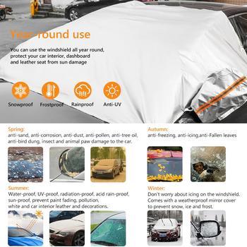 Protector Coche magnético parabrisas delantero para nieve y hielo, Protector solar Universal Anti-escarcha para coche