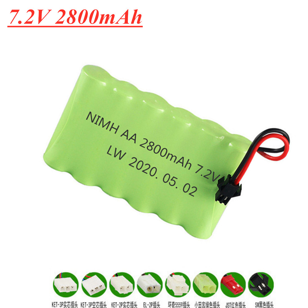 <font><b>7.2v</b></font> 2800mAh AA <font><b>NI</b></font>-<font><b>MH</b></font> Rechargeable <font><b>Battery</b></font> for Electric Toys Remote Car Ship Robot M <font><b>Battery</b></font> High Capacity Toy <font><b>Battery</b></font> image