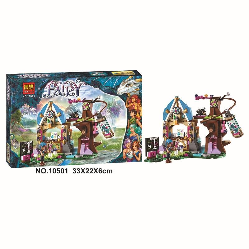 10501 233Pcs Princess Friend Elves Elvendale School of Dragons Model Building Kits Blocks Brick with 41173 in Blocks from Toys Hobbies