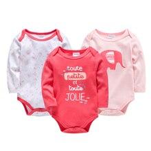 2019 Fall Newborn Baby Girls Bodysuit Jumpsuits 3PCS Autumn Infantil Onesies Cute Cartoon Toddler Jumper roupas bebe da