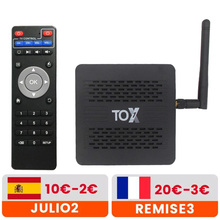 Tox1 amlogic s905x3 android 9.0 caixa de tv 4gb 32gb receptores de tv 2.4g 5g wifi bluetooth 1000m lan 4k hd conjunto caixa superior vs ugoos x3 pro