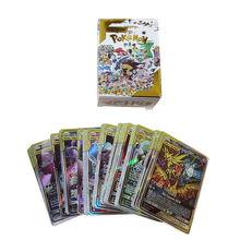 100 шт/компл карты pokemon 61tag и 39gx Карты Покемон игральные