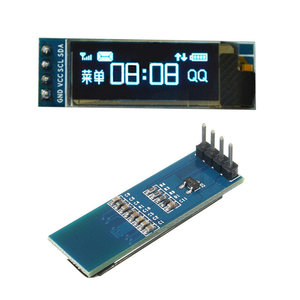 Image 1 - 0.91 calowy moduł wyświetlacza OLED biały/niebieski OLED 128X32 wyświetlacz LCD LED SSD1306 12864 0.91 IIC i2C Communicate dla ardunio