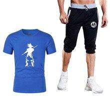 Tracksuit Men Set New Product Dragon Ball Z Goku T-shirt+shorts Brand Clothing Running Suit Casual Tshirts