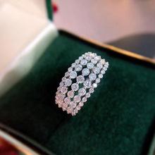Naturalne 14K białe złoto 1 Carat diament biżuteria pierścień dla kobiet Anillos De 14k złota biżuteria kamień pierścionki zaręczynowe Bizuteria tanie tanio HOYON 14 k CN (pochodzenie) Kobiety Diamond Kształt księżniczki Niewidoczne ustawienie Inny naturalny materiał GDTC