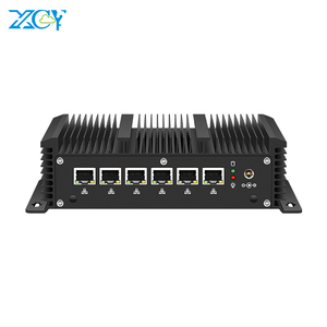 XCY Firewall Appliance Mini PC Router Intel Core i5 7200U i3 7100U i7 4500U 6*LAN Intel 210AT Gigabit NIC WiFi 3G/4G SIM AES-NI
