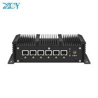 XCY Firewall Router Mini PC Intel Core i5 7200U i3 7100U 6x Gigabit LAN Intel i211 NIC RS232 WiFi 3G 4G LTE AES NI Fanless