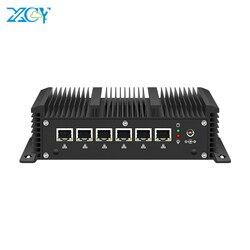 XCY Firewall de Mini PC Router Intel Core i5 7200U i3 7100U i7 4500U 6*6 * LAN Intel 210AT Gigabit NIC WiFi 3G/4G SIM AES-NI