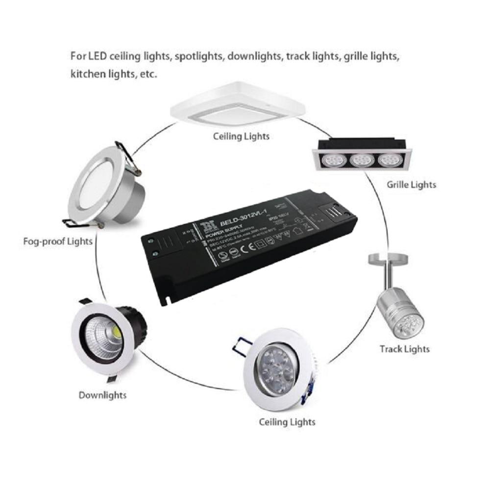 HoneyFly Super Slim LED Driver 30W 12V կայուն լարման LED - Լուսավորության պարագաներ - Լուսանկար 6